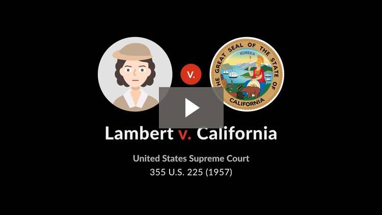 Lambert v. California