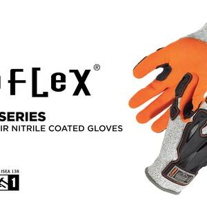 Ergodyne Product Video - ProFlex<sup>®</sup> 922CR Nitrile-Coated Cut-Resistant Gloves - ANSI Level A3, DIR Protection