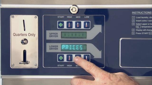 Programación del dispositivo de control de la secadora apilada Dexter de la serie-C