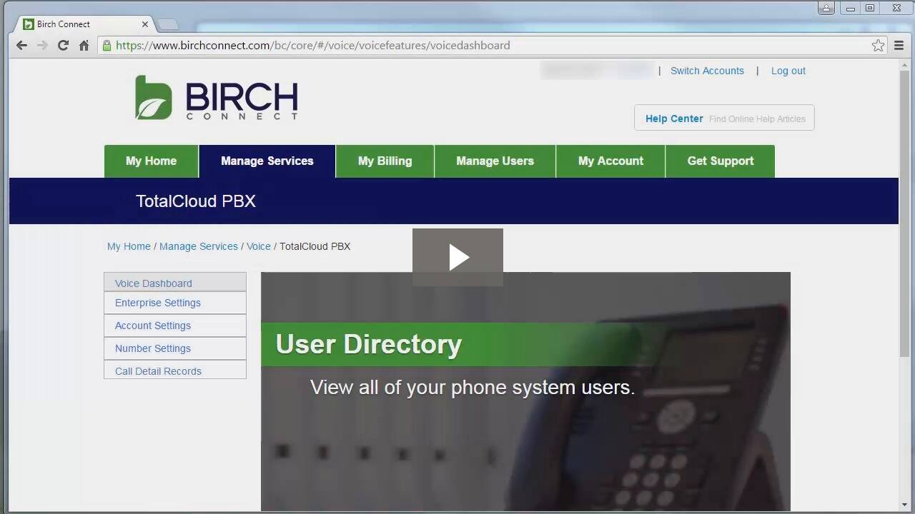 BirchConnect Web Portal Instructions