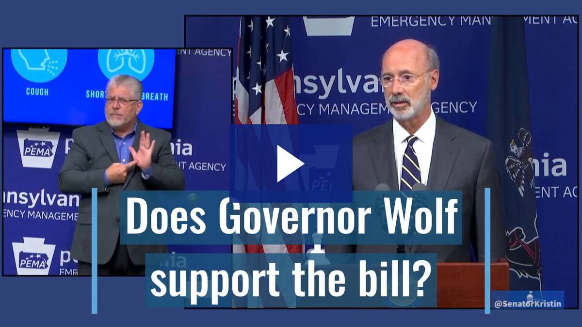 07/15/20 Governor Wolf on House Bill 2463