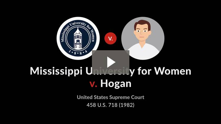 Mississippi University for Women v. Hogan