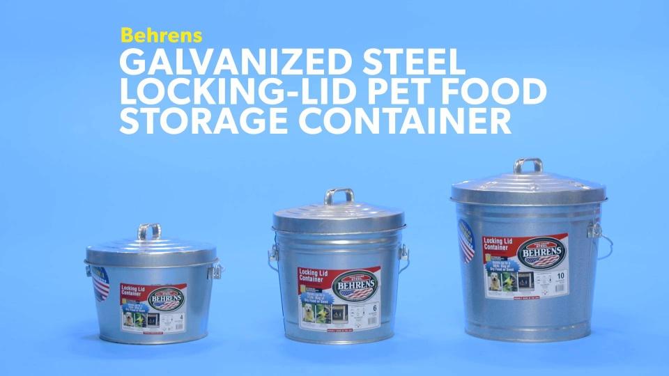 Behrens Galvanized Steel Locking lid Pet Food Storage Container 6