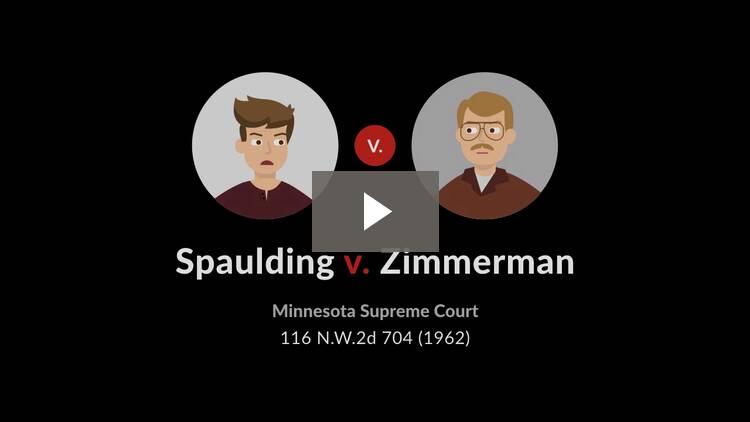 Spaulding v. Zimmerman