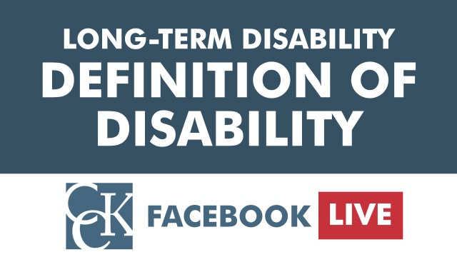 Long-Term Disability: Definitions of Disability