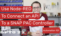 Node-RED:  Connect API to PAC Controller