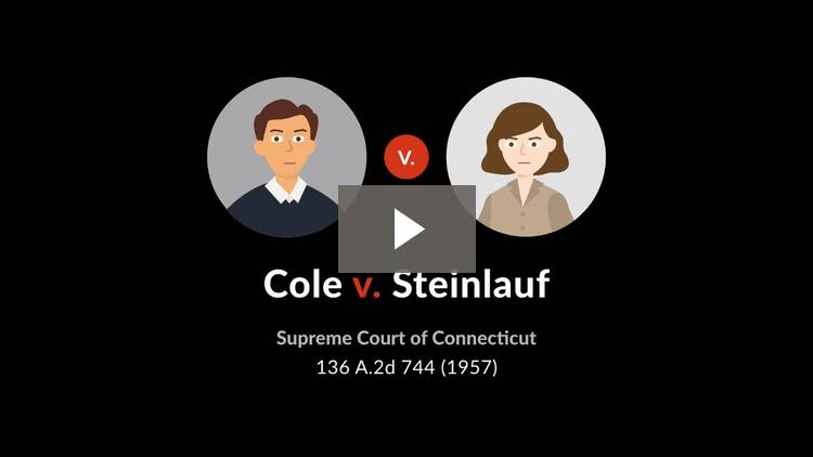 Cole v. Steinlauf