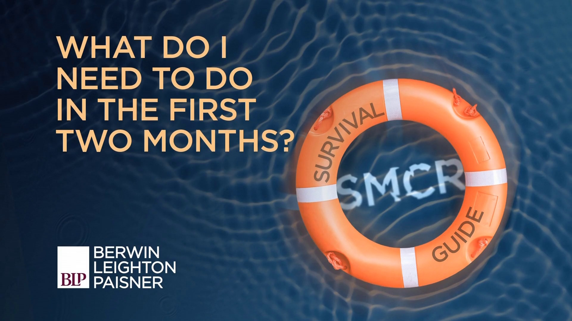 Still image from 'SMCR: What do I need to do in the first 2 months?' video