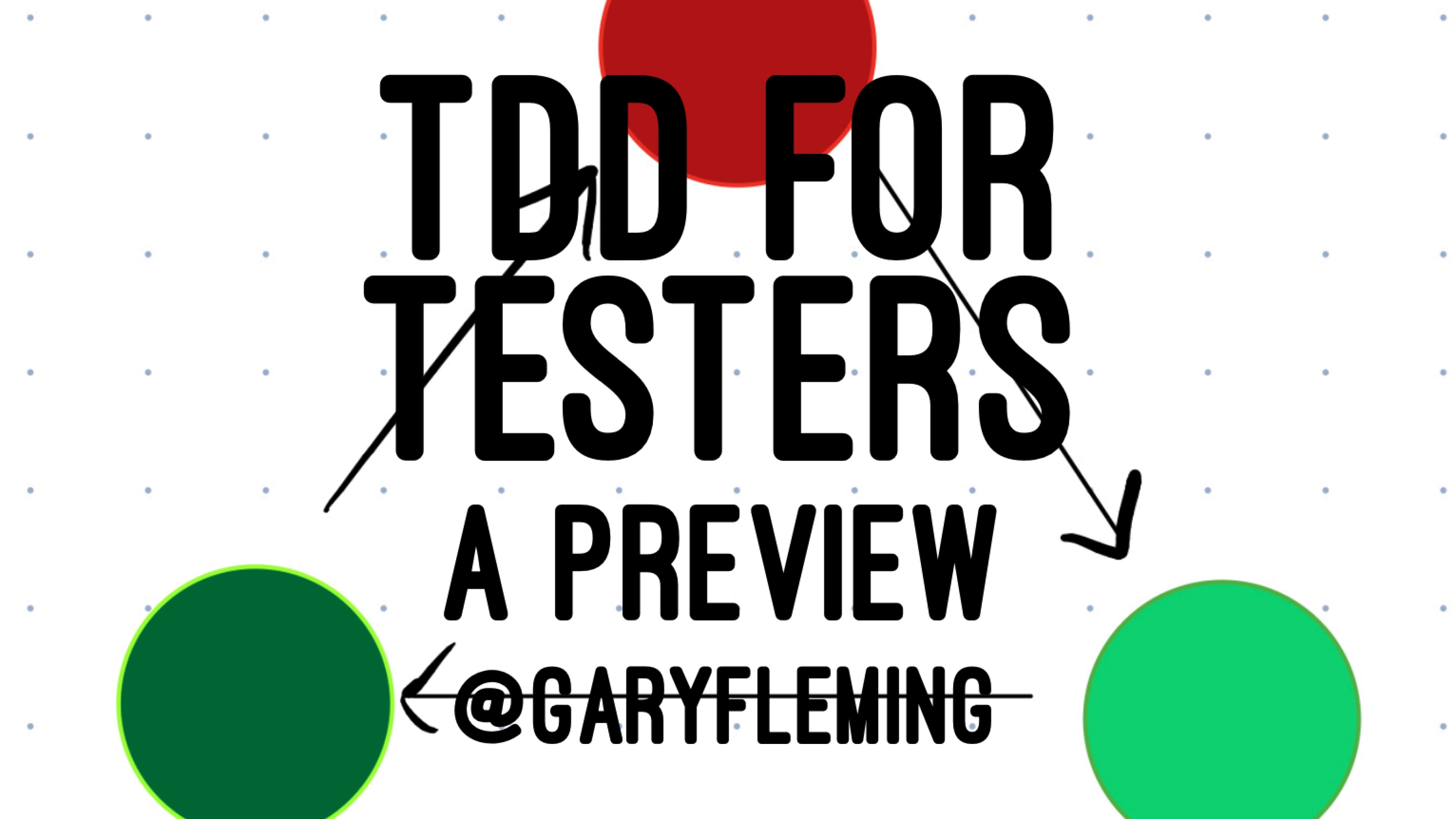 TDD for Testers with Gary Fleming