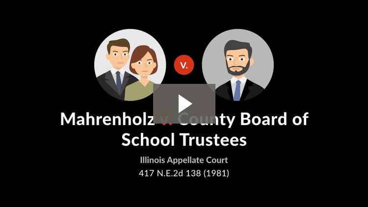 Mahrenholz v. County Board of School Trustees