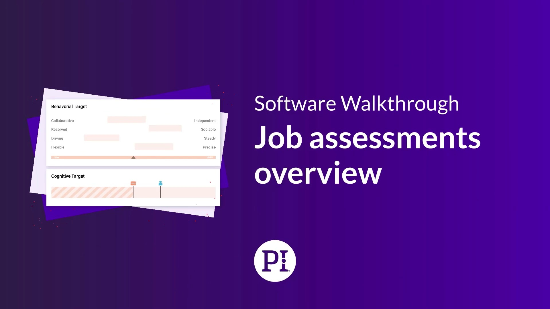 Job assessments overview