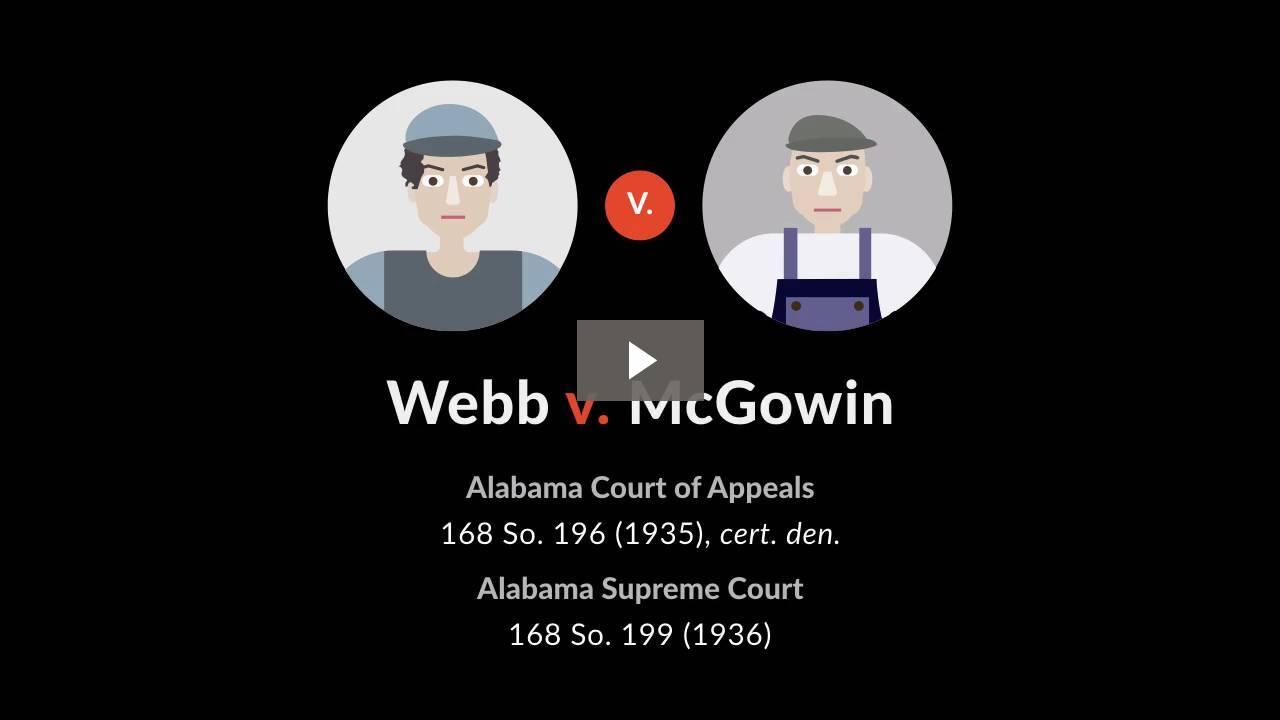 Webb v. McGowin