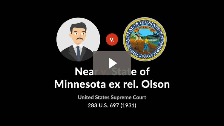 Near v. State of Minnesota ex rel. Olson