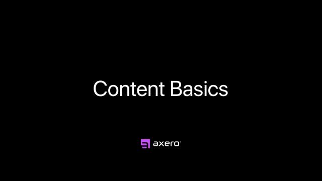 Content Basics
