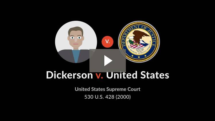 Dickerson v. United States