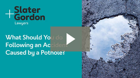 What Should You do Following an Accident Caused by a Pothole?