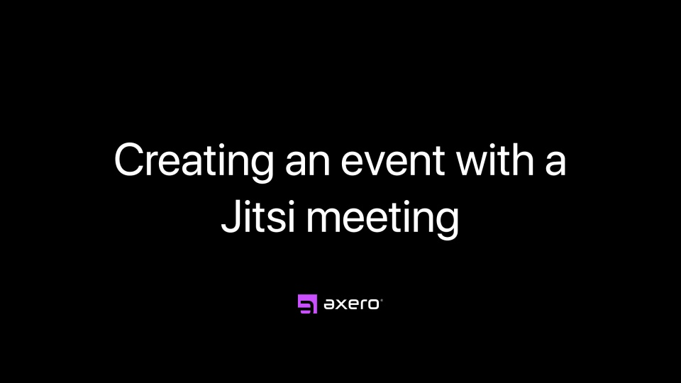 Creating an event with a Jitsi meeting