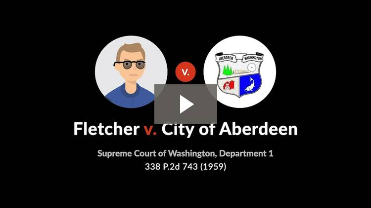 Fletcher v. City of Aberdeen