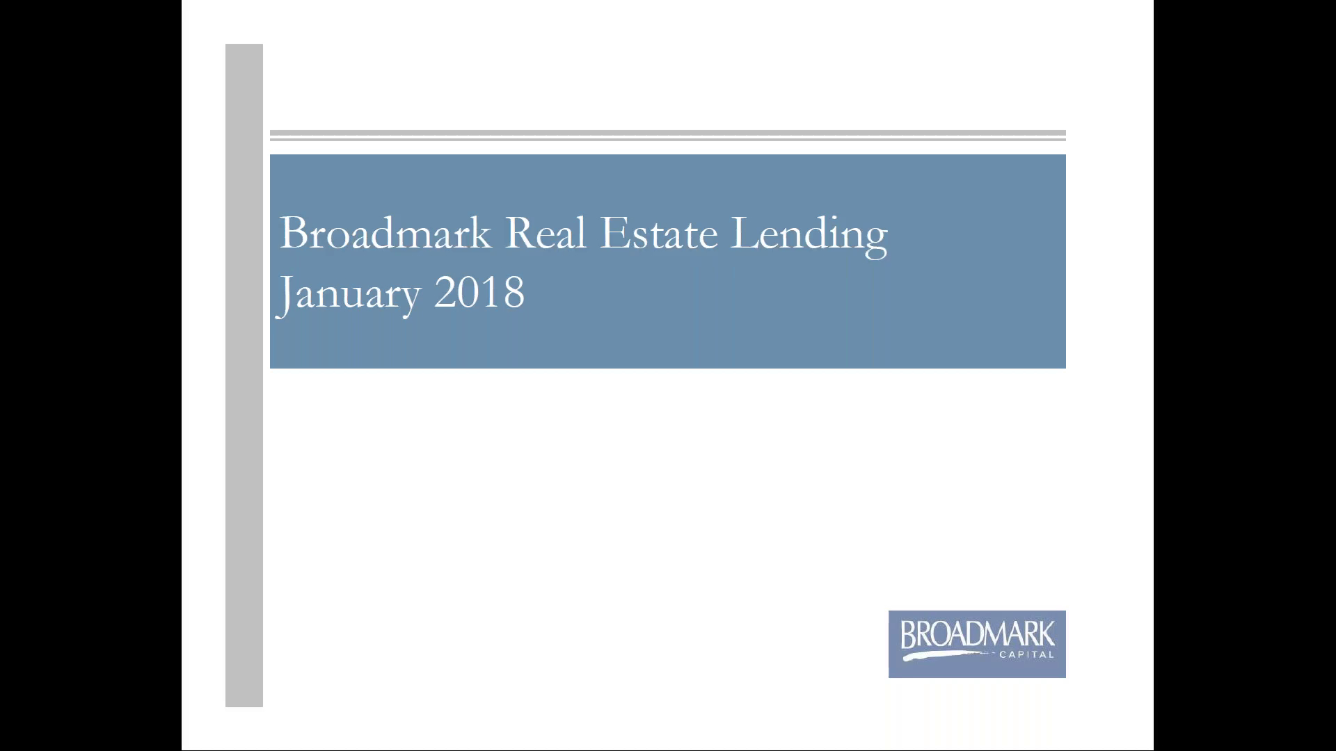 Investment Video - Broadmark Real Estate Lending Fund II 2018