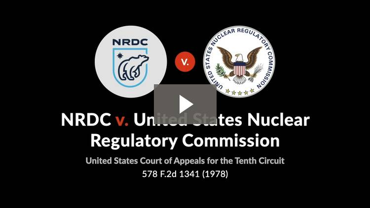 Natural Resources Defense Council, Inc. v. United States Nuclear Regulatory Commission