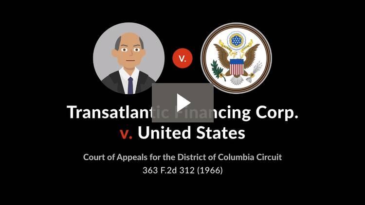 Transatlantic Financing Corp. v. United States