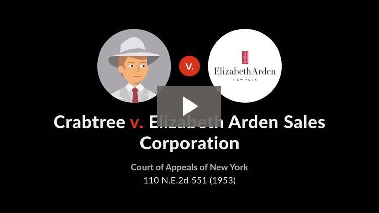 Crabtree v. Elizabeth Arden Sales Corp.