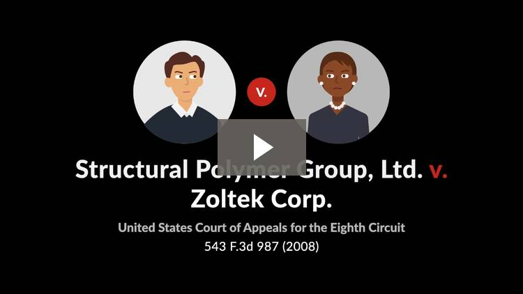 Structural Polymer Group, Ltd. v. Zoltek Corp.