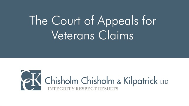 The Court of Appeals for Veterans Claims (CAVC)