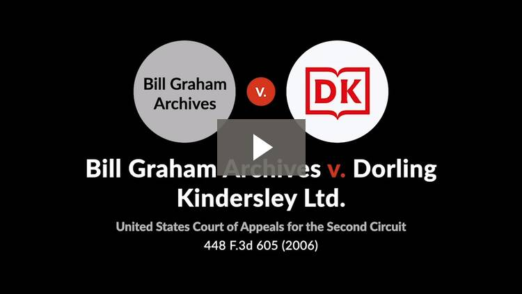 Bill Graham Archives v. Dorling Kindersley Ltd.