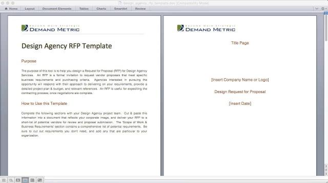 design agency rfp template demand metric