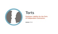 Employer Liability for the Torts of Independent Contractors thumbnail