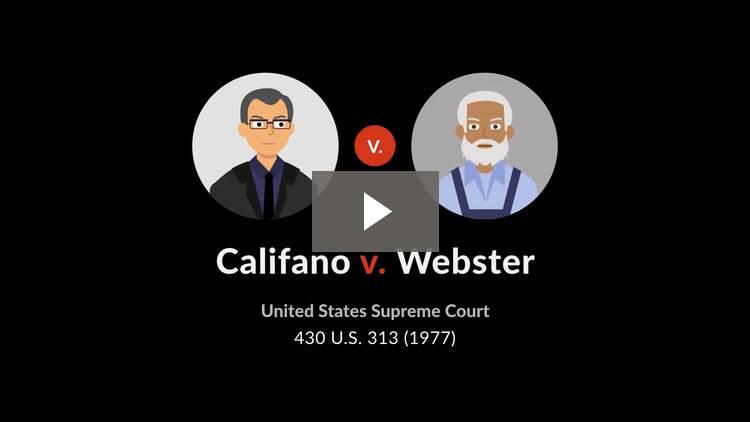 Califano v. Webster