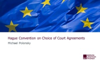 Still image from 'The Hague Convention on Choice of Court Agreements' video