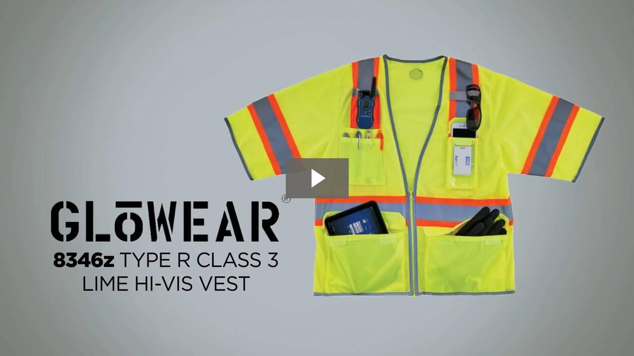 Ergodyne Product Video - GloWear<sup>®</sup> 8346Z Two-Tone Hi-Vis Class 3 Surveyor Vest