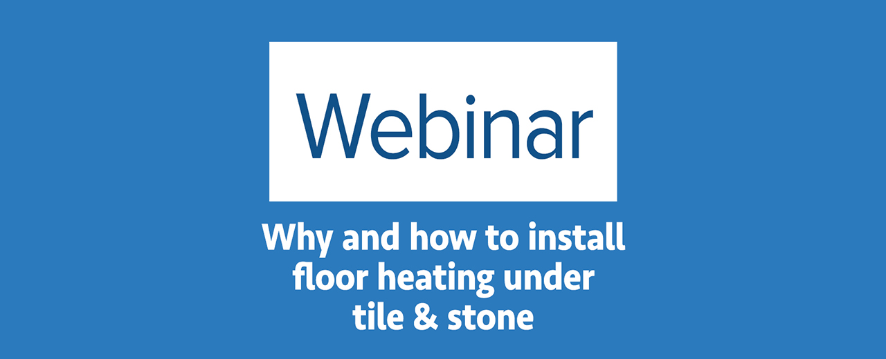 Video Why And How To Install Floor Heating Under Tile And Stone