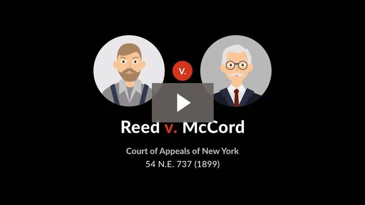 Reed v. McCord