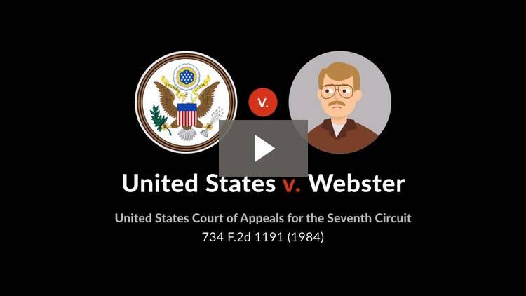 United States v. Webster