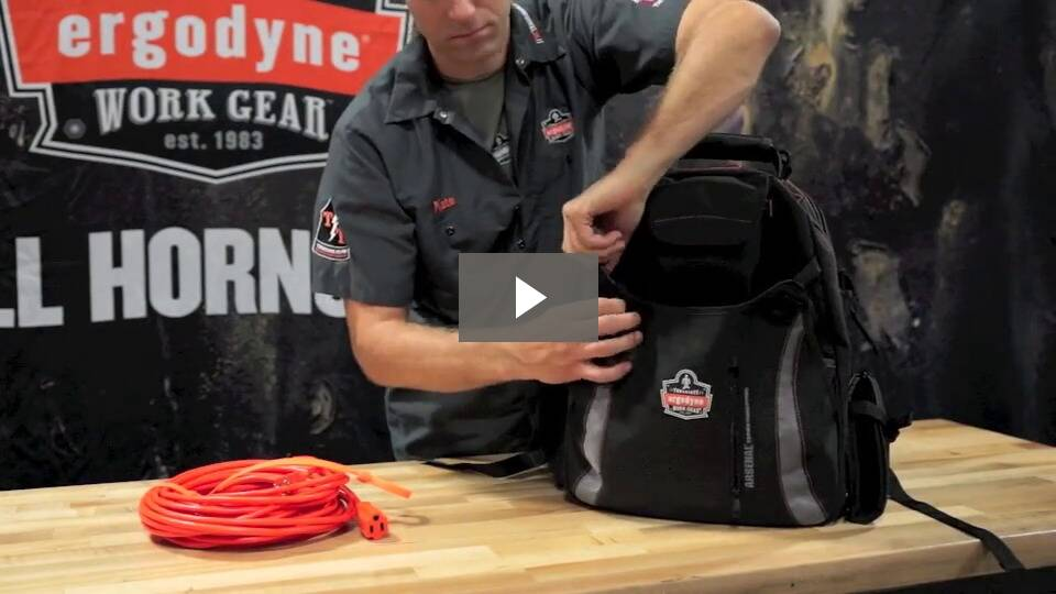 Ergodyne Product Video - Arsenal<sup>®</sup> 5843 Tool Backpack Dual Compartment
