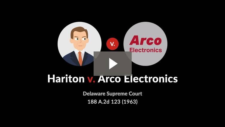 Hariton v. Arco Electronics, Inc.