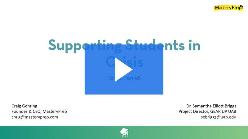 Ten on Tuesday-Supporting Students Through Crisis