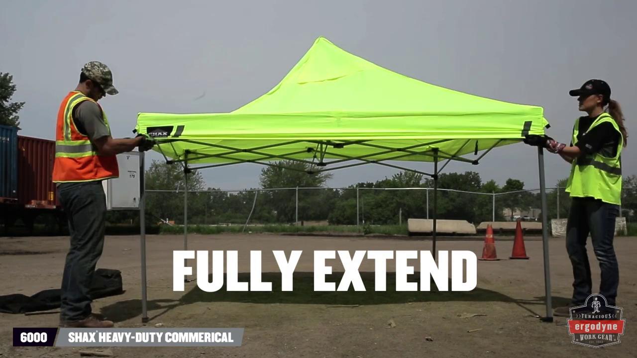 Ergodyne Product Video - SHAXu003csupu003e®u003c/supu003e 6000 Heavy- & Pop-Up Tent Heavy-Duty Tent | Ergodyne