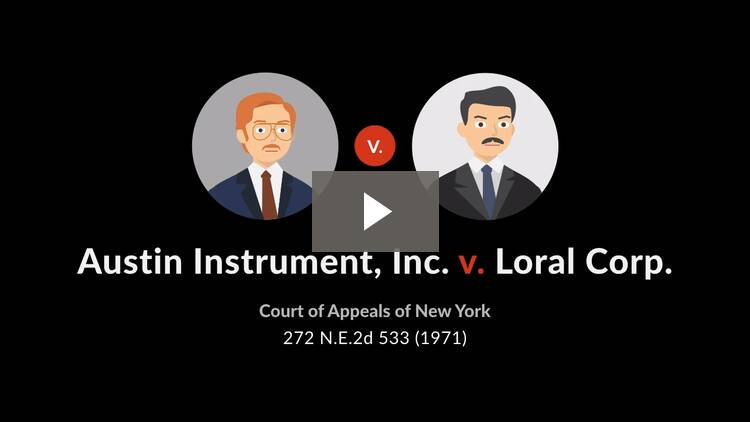 Austin Instrument, Inc. v. Loral Corp.