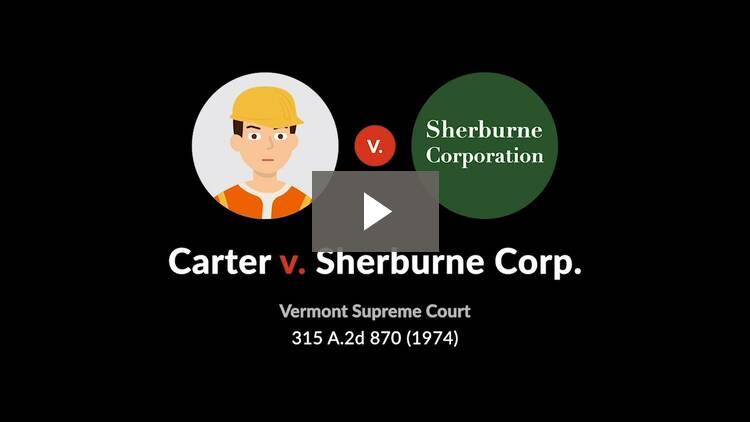 Carter v. Sherburne Corp.