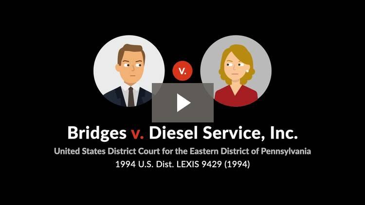 Bridges v. Diesel Service, Inc.