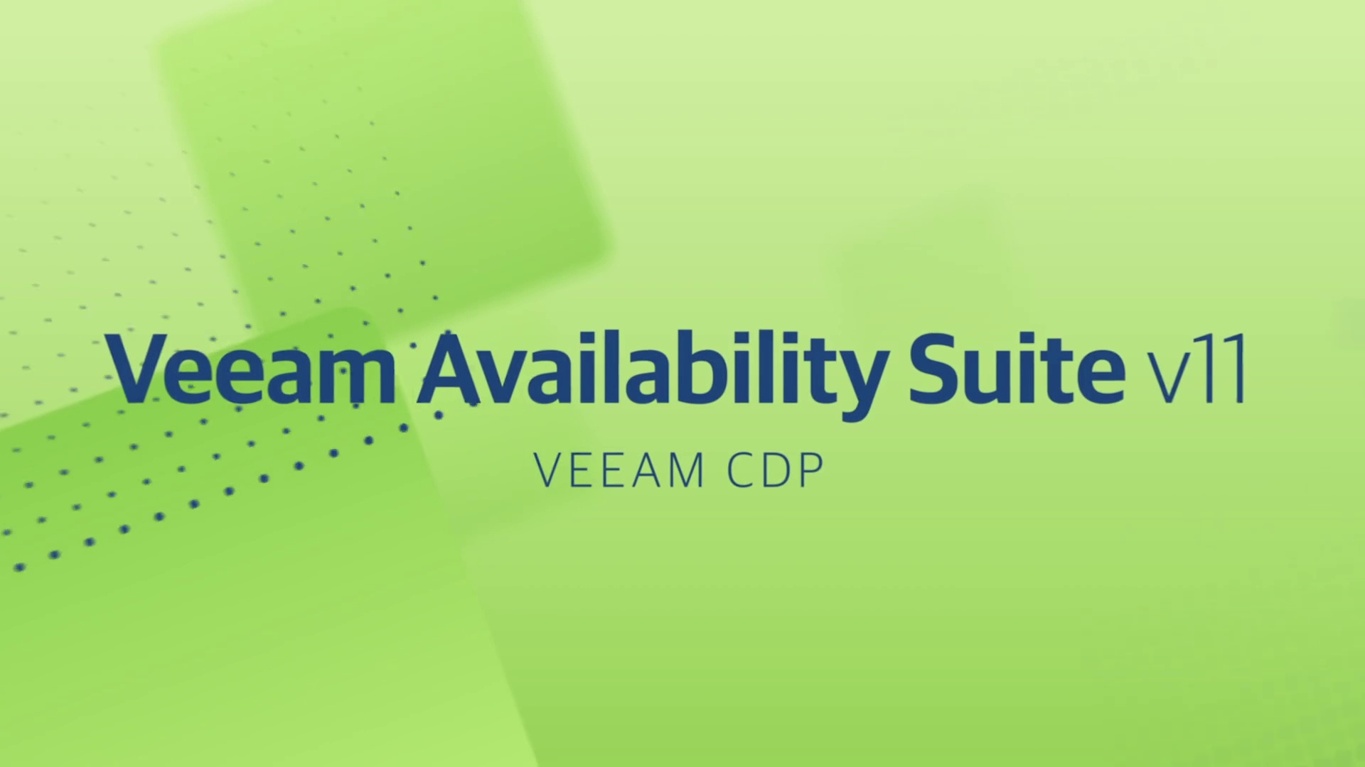 Product Launch - v11 - DA Technical Video - Veeam CDP