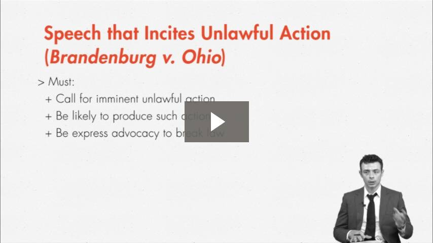 Incitement to Unlawful Action