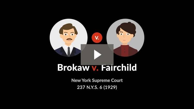 Brokaw v. Fairchild