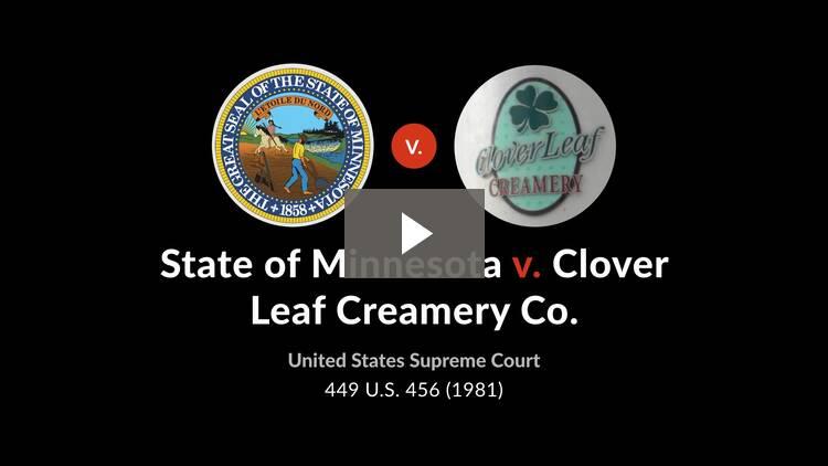 State of Minnesota v. Clover Leaf Creamery Co.