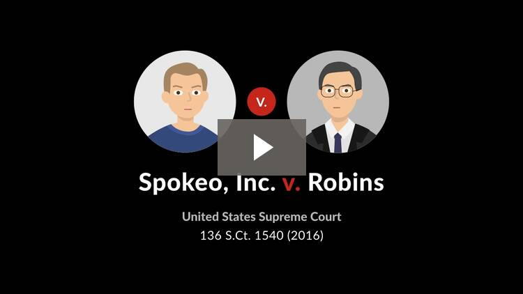 Spokeo, Inc. v. Robins
