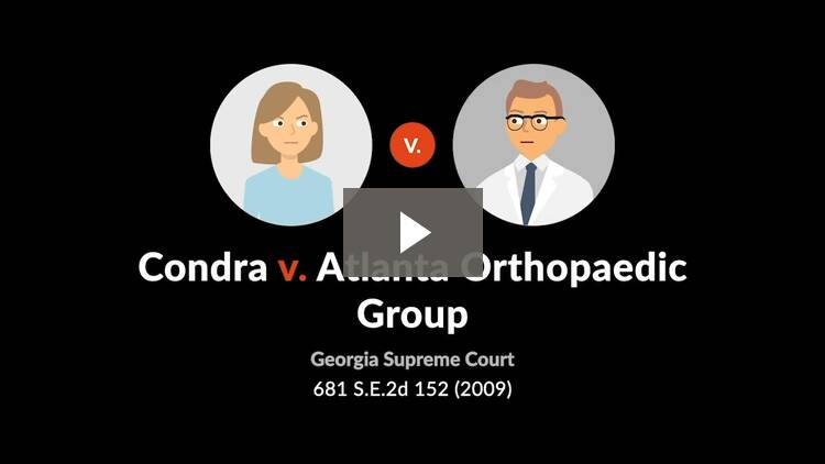 Condra v. Atlanta Orthopaedic Group